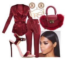 """""""Untitled #3100"""" by ma-rae ❤ liked on Polyvore featuring Dsquared2, Versace and SALAR"""