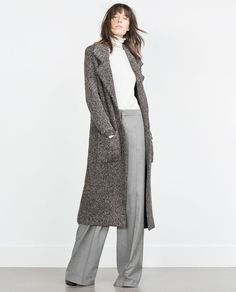 COAT WITH LARGE LAPELS-View all-Outerwear-WOMAN | ZARA United States