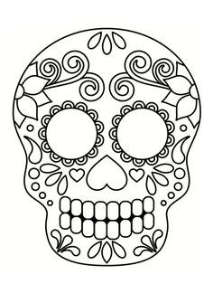 Home Decorating Style 2020 for Coloriage Halloween Tete De Mort Mexicaine, you can see Coloriage Halloween Tete De Mort Mexicaine and more pictures for Home Interior Designing 2020 19844 at SuperColoriage. Halloween Crafts For Toddlers, Halloween Activities, Toddler Crafts, Mexican Halloween, Halloween Kids, Skull Coloring Pages, Coloring Books, Colouring, Mascaras Halloween