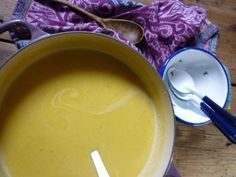 Hearty Butternut Squash Soup: Farmhouse Rules. The girls really wanted to try this.