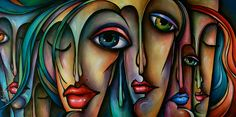Urban Art Painting - Dreamers  2 by Michael Lang