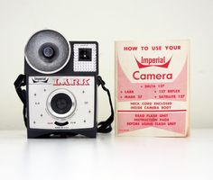 Imperia Lark camera w/instructions, built in flash, 127 flm type camera from 60s