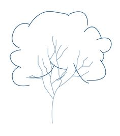 How to draw a tree step 2a