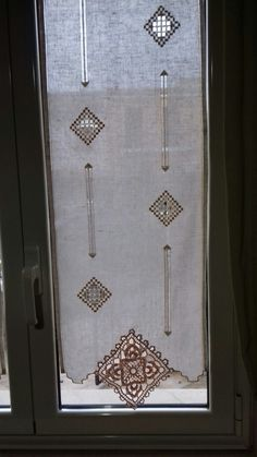 Needlework, Curtains, Embroidery, Crochet, Handmade, Embroidery Ideas, Towels, Ideas, Lace Curtains