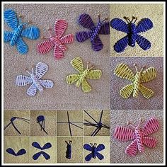 Paper crafts for Christmas trees - Salvabrani Straw Weaving, Paper Weaving, Basket Weaving, Newspaper Basket, Newspaper Crafts, Diy Ribbon Flowers, Book Page Crafts, Willow Weaving, Diy Butterfly