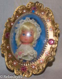 Original Mattel 1967 68 Liddle Kiddles Larky Locket Doll Lucky Lockets Dolls