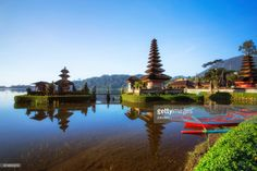 Pura Ulun Danu Bratan, or Pura Bratan, is a major Shivaite and water temple on Bali, Indonesia. The temple complex is located on the shores of Lake Bratan in the mountains near Bedugul. Water temples serve the entire region in the outflow area.