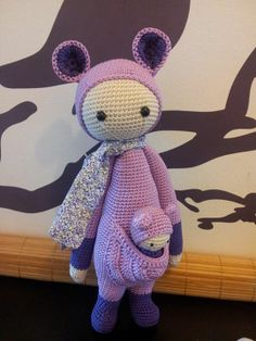 KIRA the kangaroo made by Les Tricots de Soso / crochet pattern by lalylala