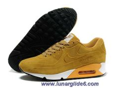 New Mens Nike Air Max 90 Fur Yellow Black Shoes