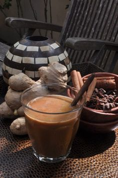 Cocochino...Coffe mix with Ginger and Coconut Milk.. Traditional Javanese Drink.