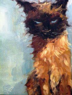 Siamese cat (unknown artist)