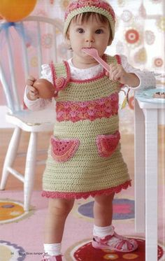 Watermelon crochet jumper
