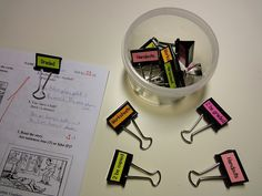 Clips for organising paperwork