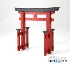 A torii is a traditional Japanese gate is most commonly found at the entrance of or within a Shinto shrine. This piece will look great on your Japanese themed table. Dimensions: 6 in. Tall, 7 in. Wide (at peak) , in.This laser cut MDF p Japanese Gate, Japanese Tea House, Japanese Garden Design, Japanese Pergola, Japanese Garden Backyard, Japanese Shrine, Mini Zen Garden, Japanese Gardens, Wooden Pergola