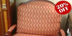 Rust Bergere Chairs w/Ottoman