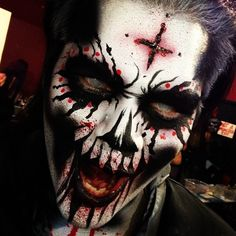 Scary #dayofthedead makeup last night at work #darkharbor. Fun! #diadelosmuertos