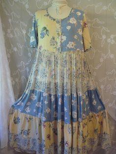 Lagenlook French Gypsy BoHo Clothing Bohemian Romantic Beach Party Upcycle Rustic Retro Shabby Ladies Wear Chic Victorian Eco Magnolia Pearl