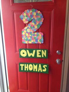 DIY Sesame Street birthday party sign