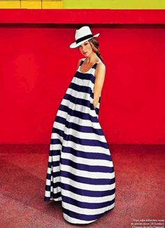 La Dolce Vita: Seeing Stripes on the 4th of July  *Striped Jil Sander Dress via Marie Claire*