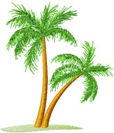 Palm tree free embroidery design - Machine embroidery forum