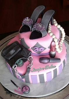Coolest Bag with Make Up Cake Birthday cakes Website and Cake