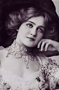 English actress and singer, Lily Elsie, one of the most photographed women of the Edwardian era