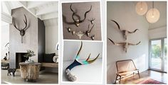 Antler Inspiration - what a great way to use up the antlers my father has around the house.  paint!