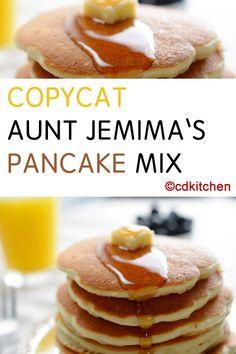 Made with self-rising flour, Bisquick, sugar, non-dairy creamer, , egg, 7-Up, pancake mix | CDKitchen.com
