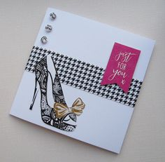Card designed by Kath Woods using the Fabulous Fashionista collection from Craftwork Cards