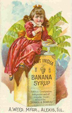 1890s banana syrup trade card