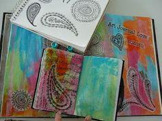 paisley doodles, tissue paper