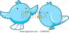 Vector Illustration of Bluebirds