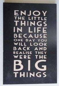 Contemporary Wood Wall Art Sign - Message Plaque - Big Things Sign | eBay