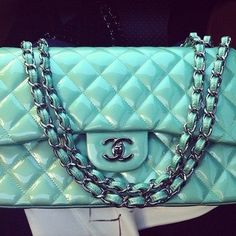 Teal Chanel Flap Bag Chanel Bags d314a5cfda