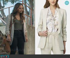 Alisha Boe, 13 Reasons, Other Outfits, Shawl, Beige, Blazer, My Style, Clothing, Sleeves