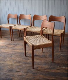 Wooden Captains Chairs Vintage Arne Hovmand Olsen Mk Teak Danish Dining Chairs original is part of Danish dining chairs - Danish Dining Chairs, Teak Dining Table, Modern Dining Chairs, Furniture, Danish Dining Rooms, Teak Dining Chairs, Teak Chairs, Vintage Chairs, Mid Century Dining Chairs