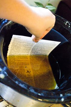 Waterproof/preserve paper!!  - How-to: Make Beeswax-Coated Paper