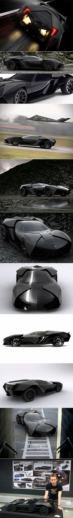 Another Look at the Batmobile-Inspired Lamborghini Ankonian - TechEBlog.