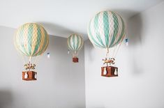A Travel-Inspired Baby Nursery Design — Giggle Hearts - DIY Party Ideas for Colorful Handmade Celebrations Kids Room Art, Kids Bedroom, Heart Party, Nursery Inspiration, Nursery Ideas, Nursery Decor, 3d Prints, Hot Air Balloon, Balloon Party