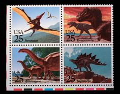 These 25 cent stamps were issued by the United States Post Office in 1989