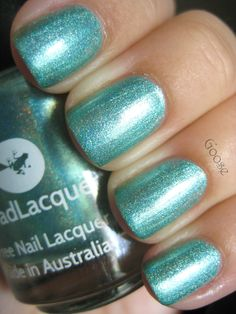 Goose's Glitter: Mint Mani for Talia Joy: Lilypad Lacquer Aquadisiac