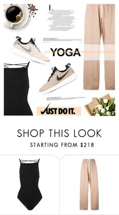 """""""Namaste: What to Wear to Yoga"""" by antemore-765 ❤ liked on Polyvore featuring Zimmermann, Puma and NIKE"""