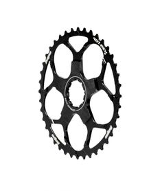 Hope 40T-Rex:  Adapts a 11-36 10spd cassette to give an 11-40t range T-REx ring installs behind existing cassette, replacing one of the smaller sprockets, usually 17t Shimano and Sram specific tooth profiles and shifting Compatible with: Shimano XT and XTR 11-36 10spd cassettes Sram PG1030, PG1050 and PG1070 11-36 cassettes