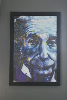Great Einstein picture I found to hang in our office. Done by the artist Stephen Fishwick.