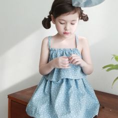 Avec A Annie Blue Dress - Jujubunnyshop