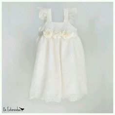 Cute country flower girl dress, would look perfect with a pair of cowgirl boots!!