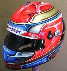 Hand Painted Kart Helmet #124 ~ Helmets4Fun - Hand Painted Helmets