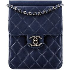 Chanel Navy Blue Quilted Leather Small Bag With a CC Lock Photo | Overdose on Chanel — See All the Fall 2013 Bags Here! | POPSUGAR Fashion