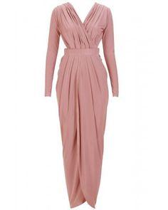 Goddess Rose Gold Maxi Dress