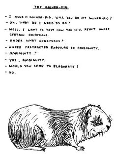 © David Shrigley Untitled (1 of a group of 6 drawings), 2005 Ink on paper